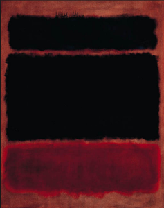 Mark Rothko Black in Deep Red 1957